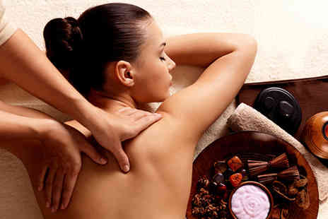 Helena McRae Salon - 90 minute back, neck and shoulder massage and relaxing body wrap pamper package - Save 70%