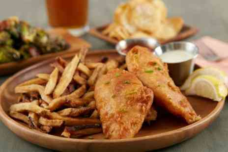 Cooks Bar & Kitchen - Fish and Chips with Wine for Two or Four - Save 46%