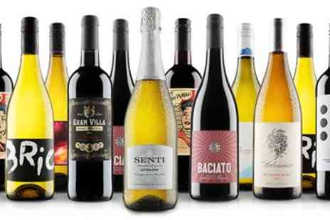 Virgin Wines Online - 12 bottles of wine, red, white or mixed case - Save 61%