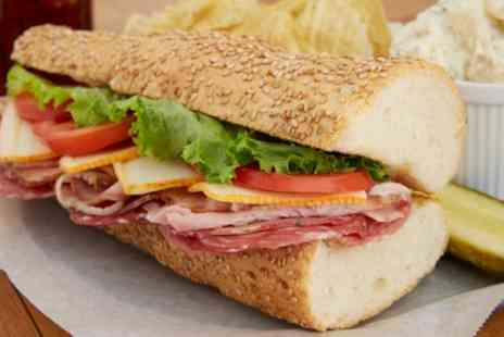 Subway - 6 or 12 Inch Sub with Large Drink and Extra Toppings or Salad Bowl - Save 44%