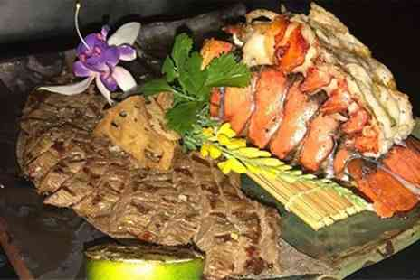 Nozomi Birmingham - Rib Eye Steak Each and Lobster to Share for Two or Four - Save 70%