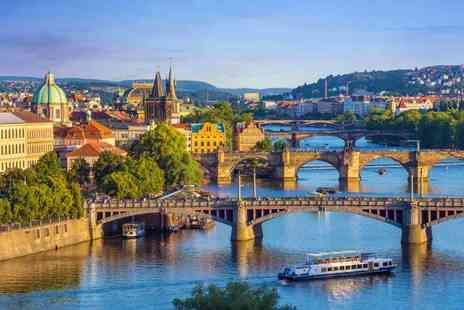 Great Pacific Travels - Two or three night getaway with breakfast, return flights and a Vltava sightseeing river cruise - Save 43%