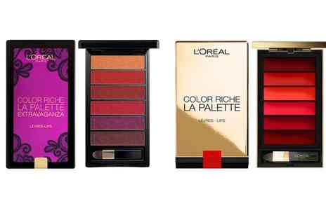 Groupon Goods Global GmbH - Two LOreal Color Riche Lip Palettes - Save 0%