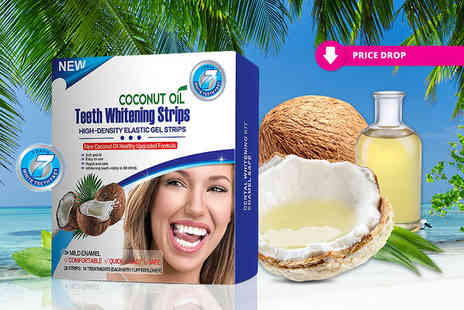 KAV Plus - Pack of 28 natural coconut oil teeth whitening strips - Save 83%