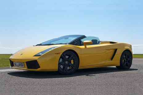 Supercar Test Drives - Three lap supercar experience, six laps in two cars or nine laps in three cars - Save 74%