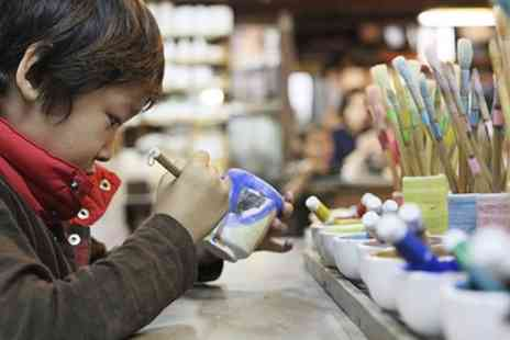 The Pottery Loft - Pottery Painting Session with Juice and Biscuits for One or Two - Save 43%