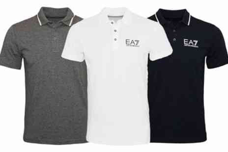 Groupon Goods Global GmbH - EA7 Emporio Armani Mens Polo Shirt in Choice of Size and Colour With Free Delivery - Save 0%