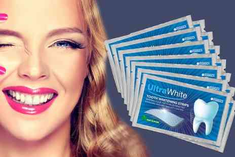 Groupon Goods Global GmbH - One, Two or Three 28 Packs of Ultra White Teeth Whitening Strips - Save 0%