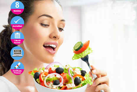 Live Online Academy - Accredited online nutrition diploma course - Save 98%
