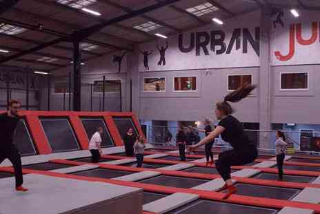 Urban Jump - One hour trampoline park and Urban Rainforest experience for two or four - Save 30%