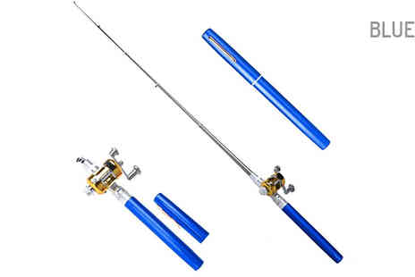 Best mall ever - Pocket Sized Fishing Rod in 2 Colours - Save 66%