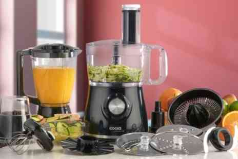 Groupon Goods Global GmbH - Cooks Professional Food Processor with 12 Accessories With Free Delivery - Save 55%