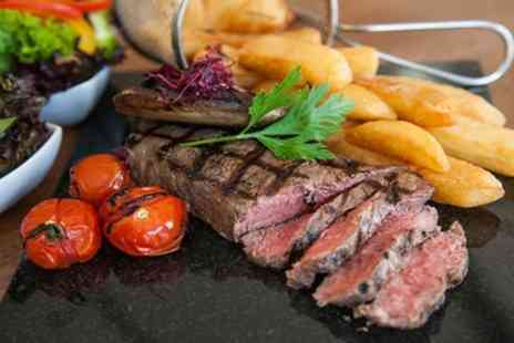 7 Hotel And Diner - Two Course Steak Meal with Wine for Two or Four - Save 53%