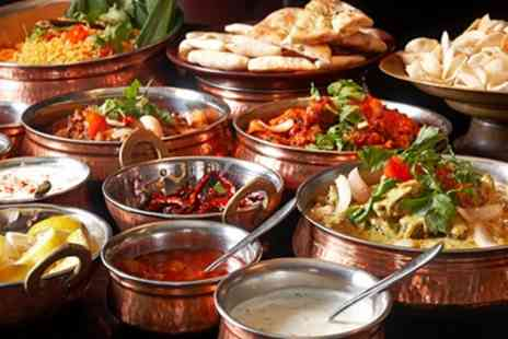 Jewel In The Crown - Three Course Indian Meal with Rice or Naan and Side Dish for Two or Four - Save 61%