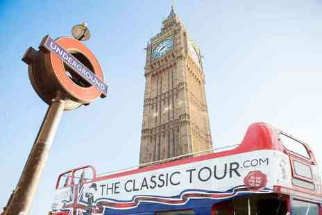 The Classic Tour - Childs ticket or Adult ticket for the open top routemaster Classic Tour of London - Save 40%