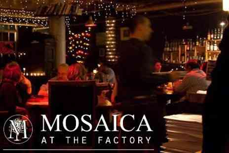 Mosaica @ the factory - Seven Course Taster Menu of Fine English Cuisine with Bellini Cocktail - Save 60%