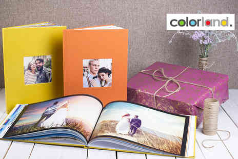 Colorland - One 80 or 100 page personalised photobook choose either landscape or portrait and from over 100 designs - Save 80%