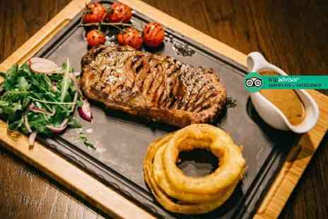 Solo Restaurant plus Bar - 8oz rump steak dining for two people with a salad, side dish and sauce each - Save 51%