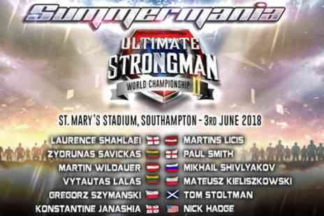 Ultimate Strongman - One ticket to Ultimate Strongman, Summermania 2 The World Championship on Sunday 3 June - Save 40%