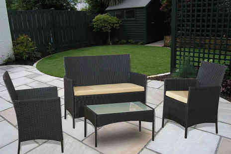 Bells Bay - Four piece rattan patio set - Save 79%