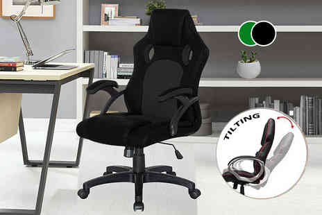 Home Empire - Racing style office chair choose from two colours - Save 67%