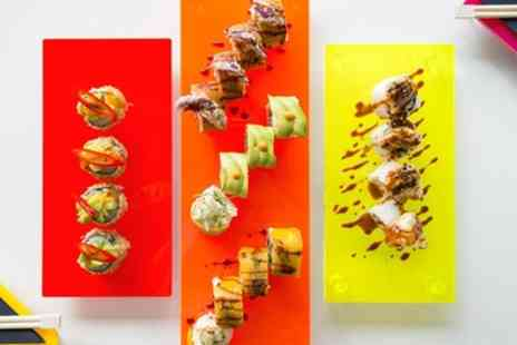 Tropical Sushi - Verde or Amazonas Sushi Platter with Glass of Wine for Two - Save 43%