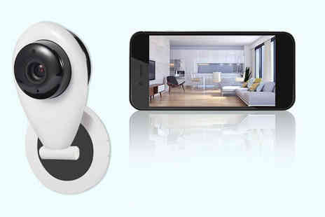 Maxwe - App controlled home security camera, camera with stand, camera and 16GB SD card, or camera with stand and SD card - Save 68%