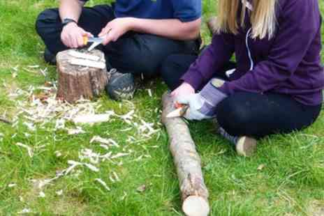 Ackers Adventure Centre - Knives and Notches Session or Bushcraft Adventure by Canoe for Up to Four - Save 50%