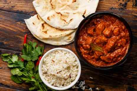 Mother India Kitchen - Two Course Indian Meal with Rice or Naan and Wine for Two or Four - Save 48%