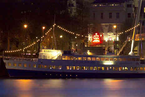 R S Hispaniola - Afternoon tea with bottomless Prosecco for two aboard the R.S. Hispaniola and a River Red Rover boat cruise ticket - Save 54%