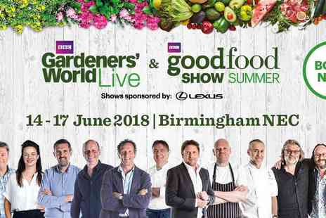 River Street Events - BBC Gardeners World plus BBC Good Food Show - Save 50%