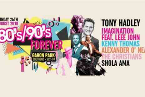 Festivus - One general admission or golden circle ticket to 80s & 90s Forever Festival on Sunday 26 August - Save 15%