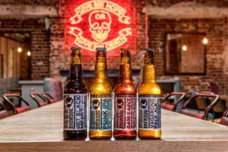 BrewDog - Craft Beer School, Tutored Tasting with Five Beers plus Cheese Platter for Two - Save 50%