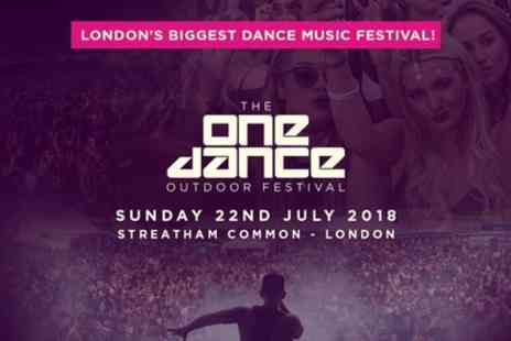 Festivus - Ticket to One Dance Festival 2018 on 22 July - Save 10%