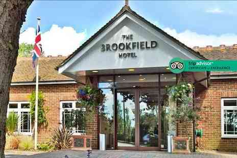 Brookfield Hotel - Overnight Hampshire stay for two with a two course dinner, glass of Prosecco, breakfast and late check out - Save 44%