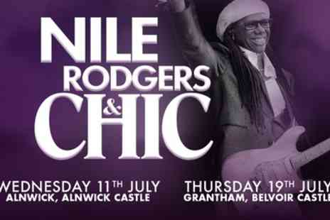 Live Nation HQ - Nile Rodgers and Chic, Seated or Standing Ticket on 11 and 19 July - Save 33%