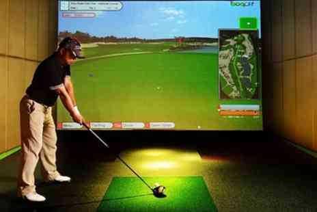 The Paul Page Golf Academy - One Hour Golf Simulator Hire for Up to Four - Save 55%