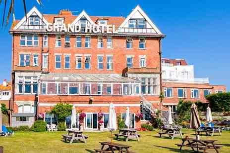 The Grand Hotel - Afternoon tea for 2 with bubbly & swim - Save 48%