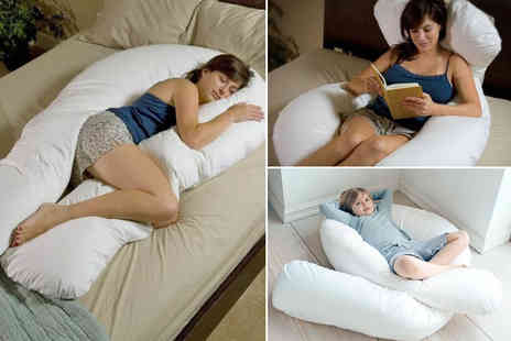 Home tex - Anti allergenic U shaped support pillow - Save 67%