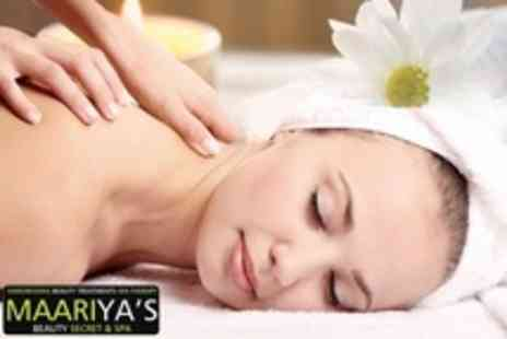 Maariyas Beauty Secret & Spa - Facial of Choice With Head, Neck, and Shoulder Massage - Save 69%