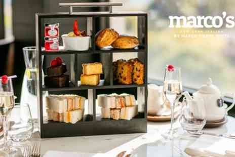 Marcos New York Italian - Afternoon Tea with Glass of Prosecco for Two - Save 37%