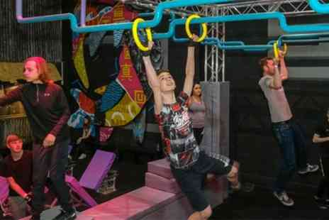 True Ninja - Obstacle Course Experience with Slushy and Optional Food or Ninja Gear for Up to Four - Save 30%