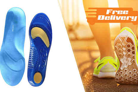 Sole Control - Sole Control Full Length Gel Insoles in 1 or 2 Pairs plus Free Delivery - Save 77%