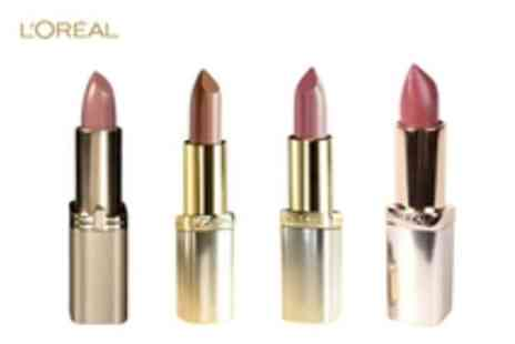 LOreal - Pampering for your lips, 4 LOreal Colour Lipsticks for just £9.99 instead of £32.75 - Save 69%