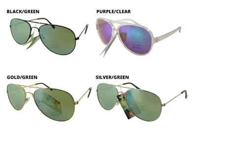 Direct E Trade - Two pairs of stylish sunglasses choose from Aviator and Fashion designs - Save 87%