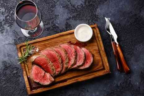 Frog & Rhubarb - Steak Meal with Glass of Wine for One, Two or Four - Save 48%
