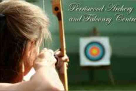 Perriswood Archery and Falconry Centre - Two and a Half hours of archery and falconry for two People - Save 0%