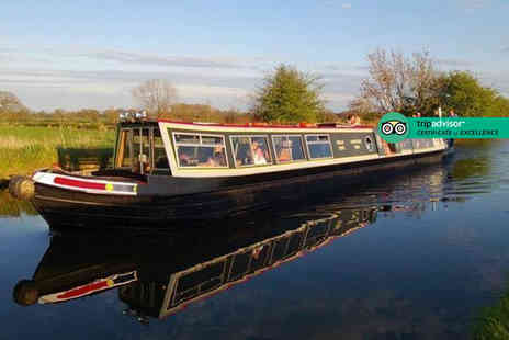 Norbury Wharf - Three hour canal cruise for two people including fish and chips each on the Shropshire Union Canal - Save 36%