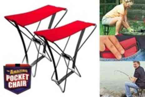 Beesbays - Two The Amazing Pocket Folding Chairs - Save 50%