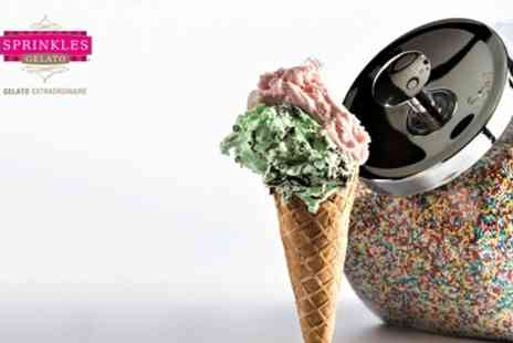 Sprinkles Gelato - Two Scoops of Gelato and Two Toppings for Up to Four - Save 28%